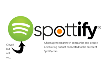 A logo combining the Spottmedia name with Spotify logo