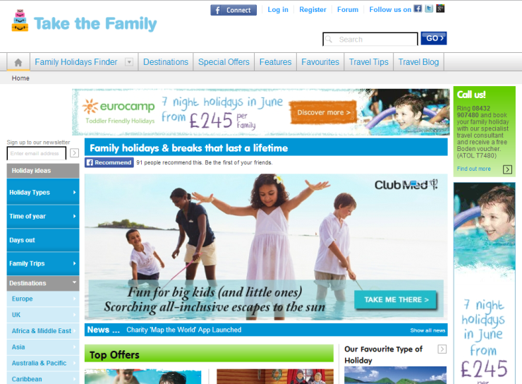 Take The Family Homepage